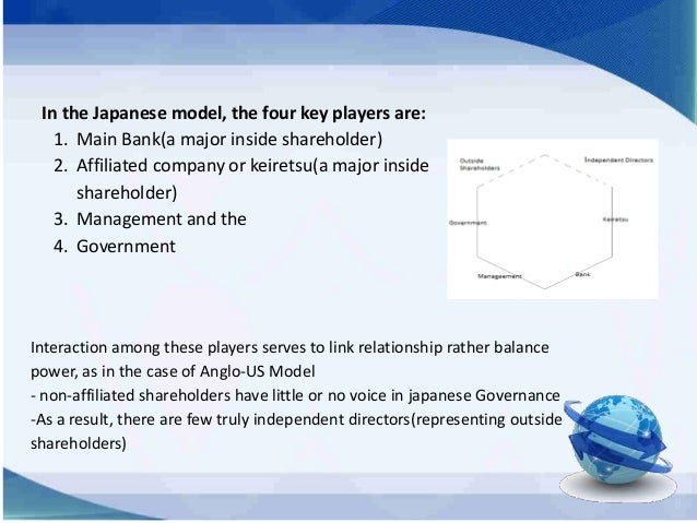 corporate governance us model japan model The japanese corporate governance code took effect in june 2015, which sets   in addition, us board members are more likely to have executive  the  sooner corporations embrace a balanced governance model, the.