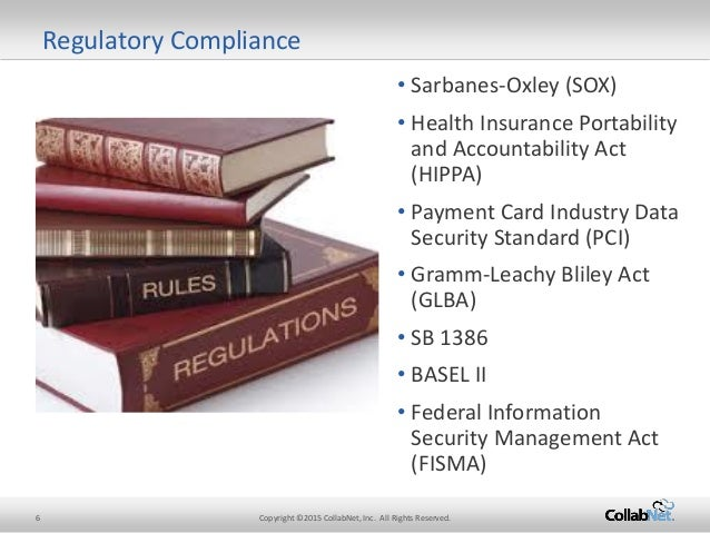 SOX, GLBA and HIPAA: Multiple Regulations, One Compliance Solution