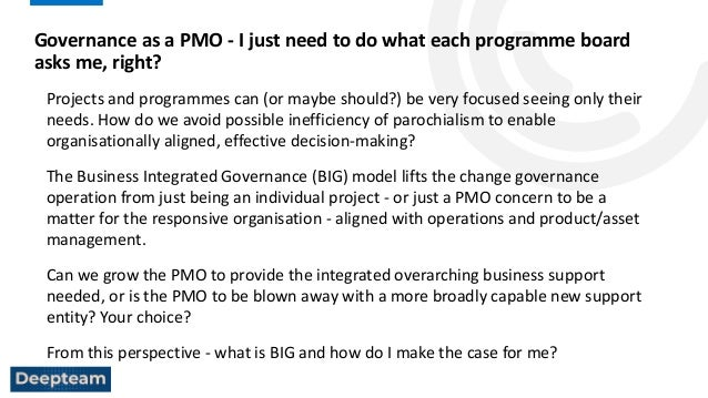 Governance as a PMO: I just need to do what each programme board asks me? right webinar, 8 September 2021 Slide 2