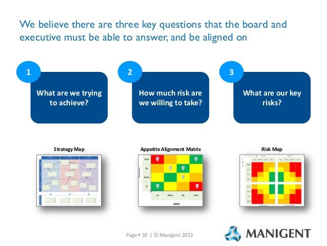 We believe there are three key questions that the board and executive must be able to answer, and be aligned on 1  2  3  W...