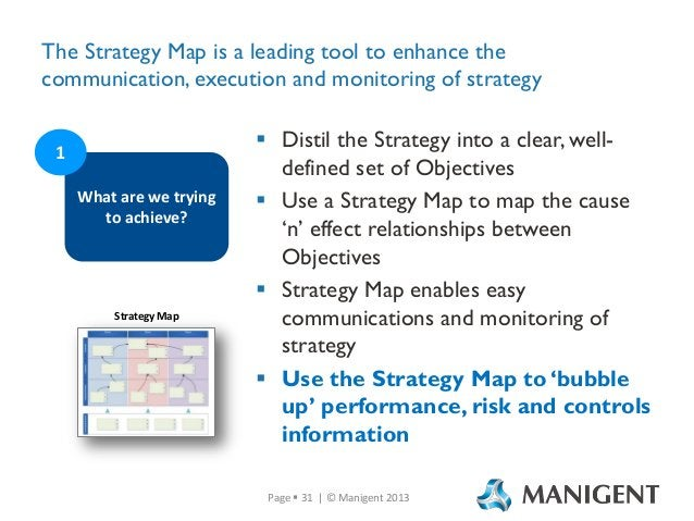 The Strategy Map is a leading tool to enhance the communication, execution and monitoring of strategy 1 What are we trying...