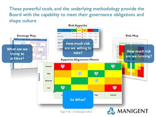 These powerful tools, and the underlying methodology provide the Board with the capability to meet their governance obliga...
