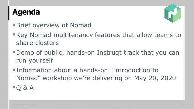 Governance for Multiple Teams Sharing a Nomad Cluster Slide 2