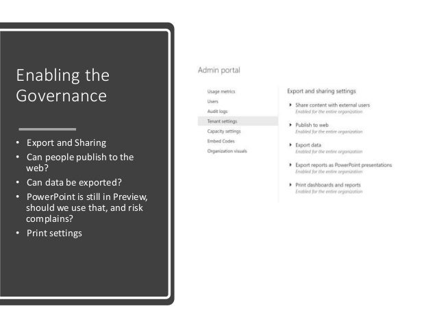 Governance for power bi Toronto SPS Saturday