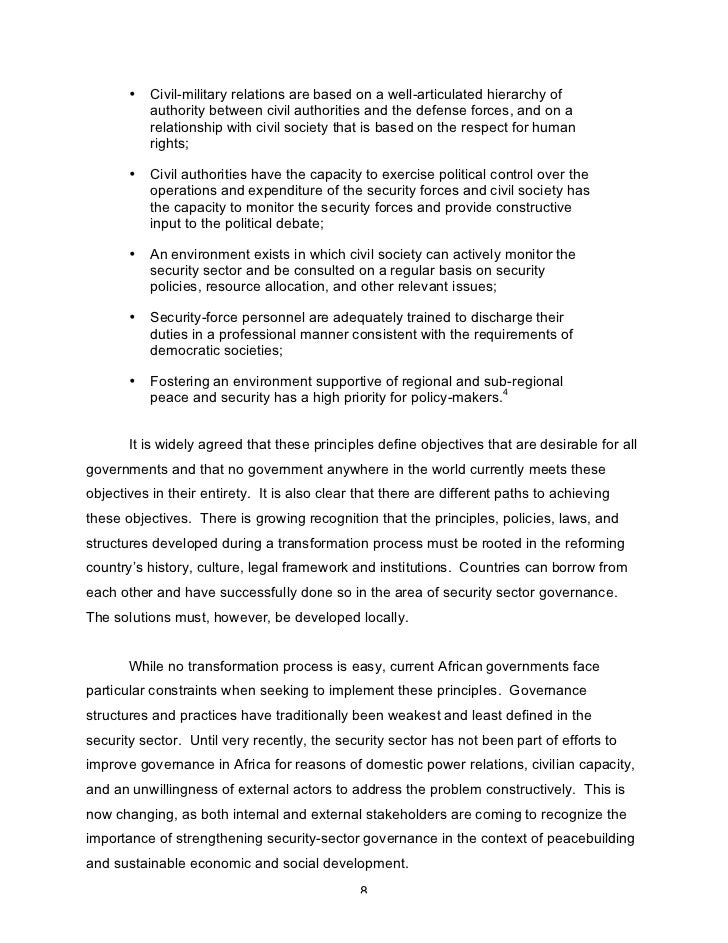 the good governance in public sectors politics essay Good governance, development and  discussion paper aims to (1)  and effective public services governance processes refer to the quality of participation.