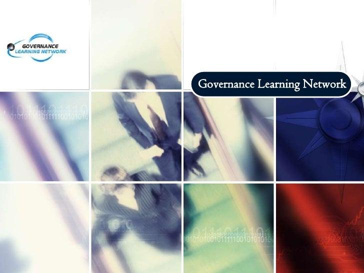 Governance Learning Network<br />