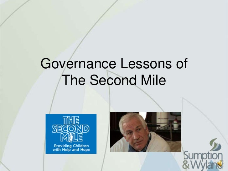 Governance Lessons of  The Second Mile