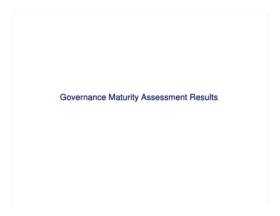 Governance Maturity Assessment Results