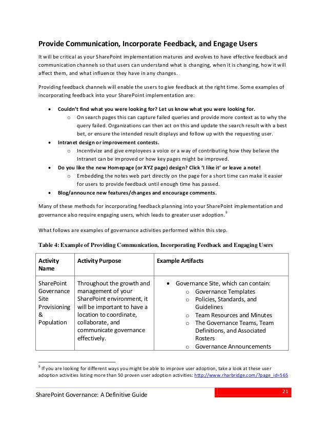 SharePoint Governance White Paper from AvePoint and Atidan