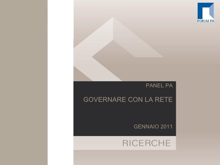 PANEL PA GOVERNARE CON LA RETE GENNAIO 2011