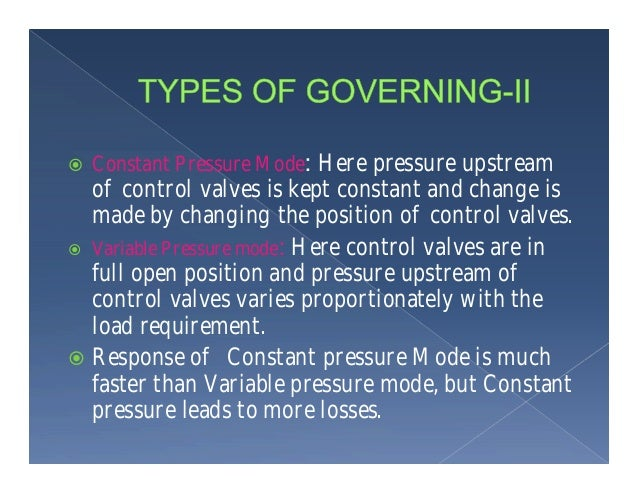 Governing and protection system