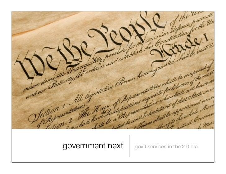 government next   gov't services in the 2.0 era