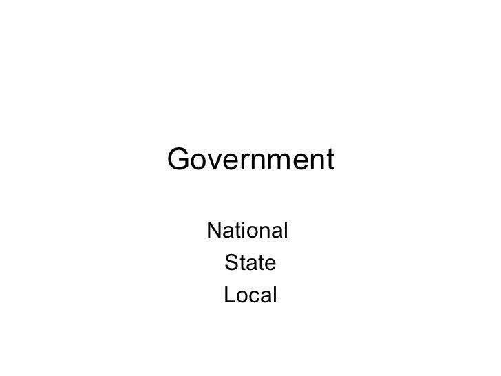 Government National  State Local