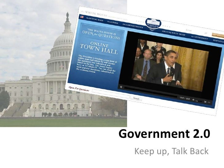 Government 2.0   Keep up, Talk Back
