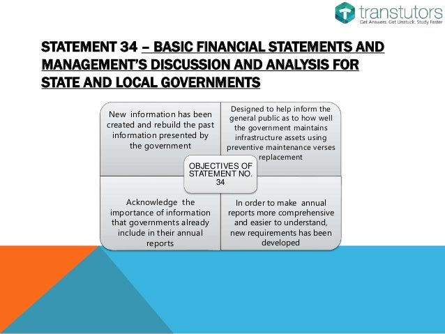 an analysis of the gasb passed statement number 34 Basic financial statements—and management's discussion and analysis—for  public colleges and universities—an amendment of gasb statement no 34.
