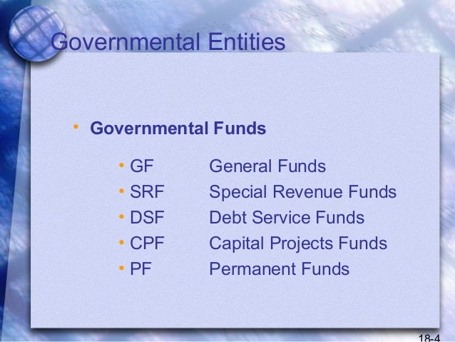 Governmental entities special funds and government wide ...