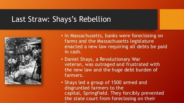 a study of shays rebellion