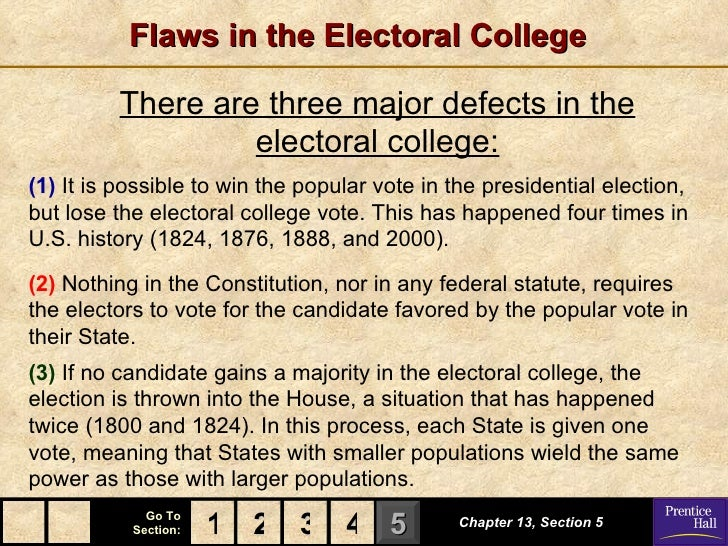 pros of the electoral college The electoral college is a system used to determine who the president and vice president of the united states will be it is made up of 538 electors, who based.