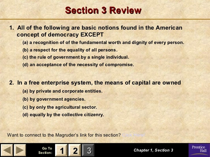 chapter 1 section 3 guided reading and review basic concepts of democracy