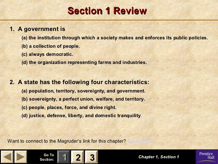 Government Chapter 1 Powerpoint Con T