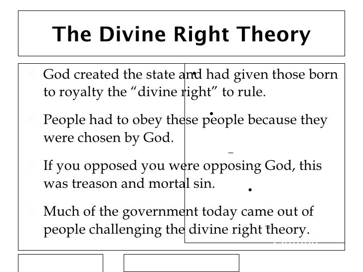 Divine right theory of state. What is an example of divine ...