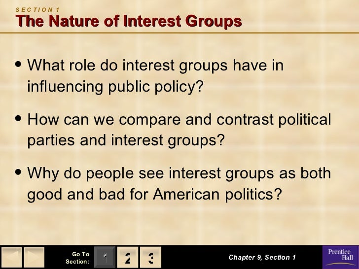 How are interest groups and political parties similar or different?