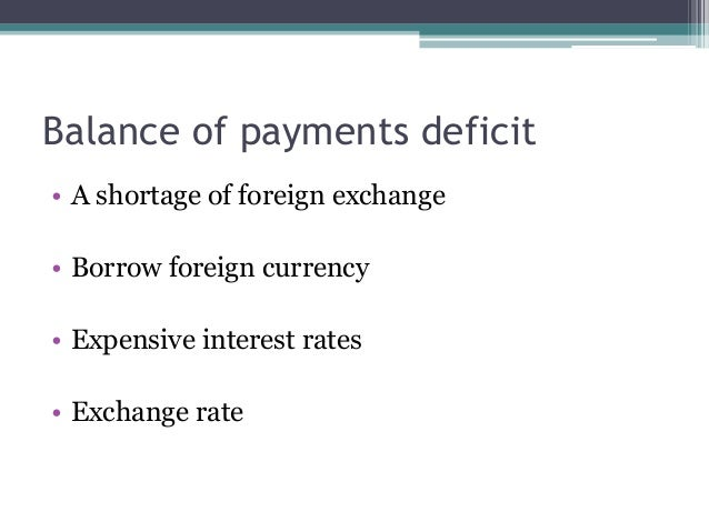 How balance of payments affects gdp and growth rate