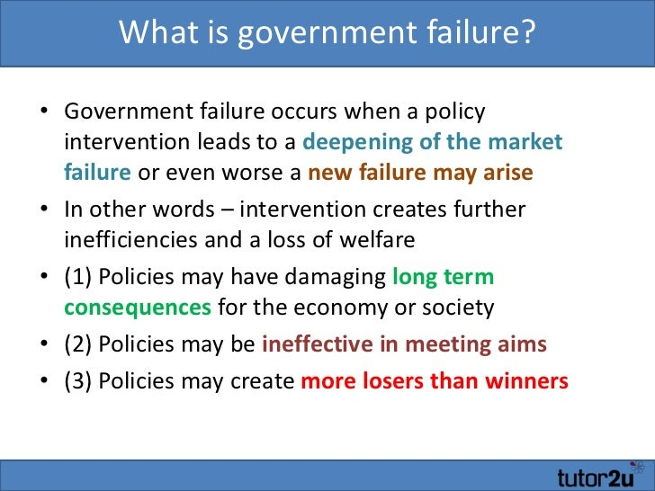 government intervention occurs in markets to Government and market failure government intervention occurs when markets are not working that is supposed to be in simple terms, the market may not always allocate scarce resources efficiently in a way that achieve economic growth.