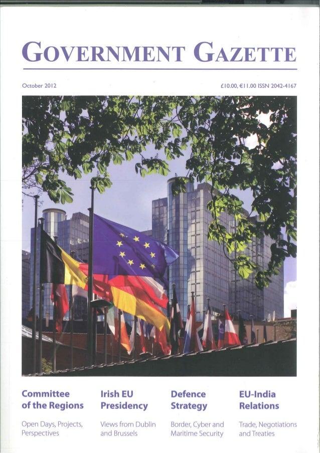 Government Gazette CentraLab Article 10/2012