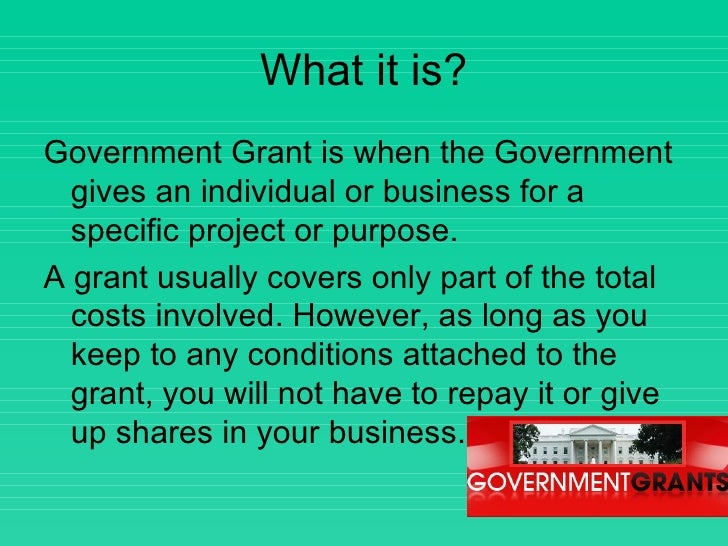 Government Grants Powerpoint