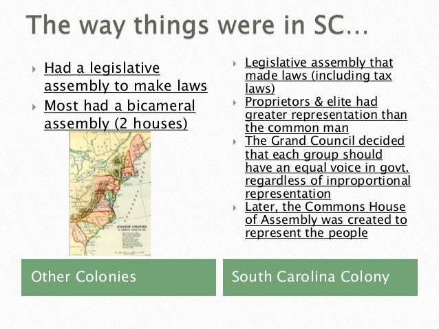 Government in colonial sc 8 1.6
