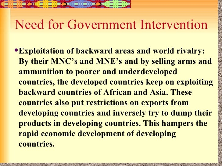 How far should government intervention go to reduce poverty ...