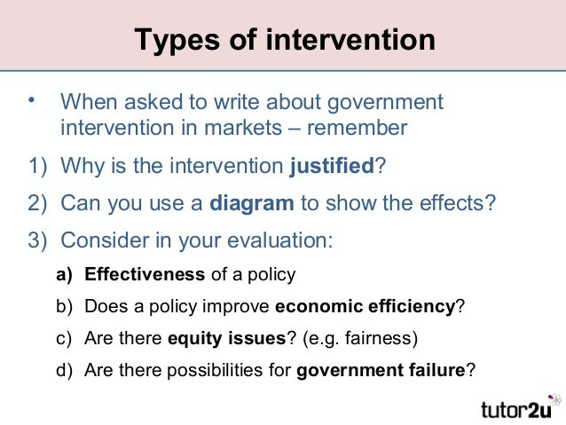 government intervention Government intervention essays: over 180,000 government intervention essays, government intervention term papers, government intervention research paper, book reports 184 990 essays, term and research papers available for unlimited access.