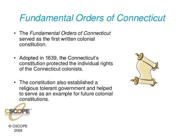 Mayflower versus fundamental orders