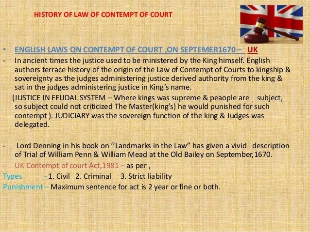 what does civil contempt mean