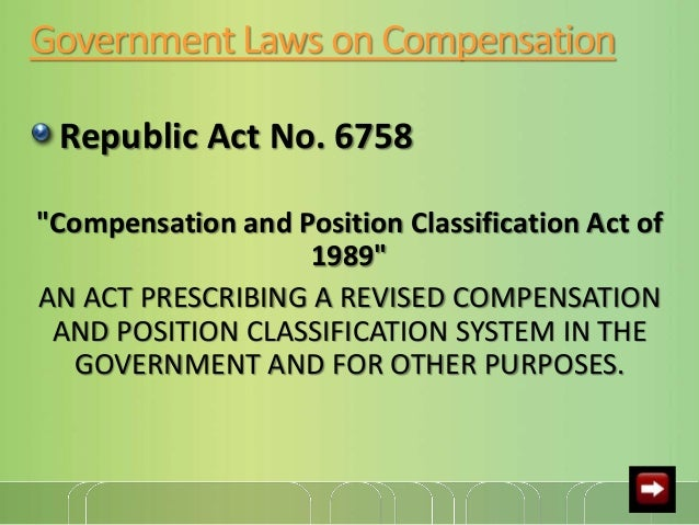 laws and regulations influencing total compensation To explain how certain laws and regulations affect total compensation in continue reading examples of laws and regulations influencing total compensation.