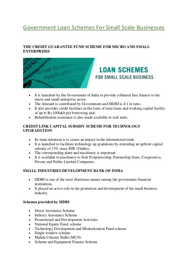 Credit guarantee fund scheme for micro and small enterprises cgtsme….
