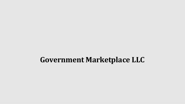 Government Marketplace LLC