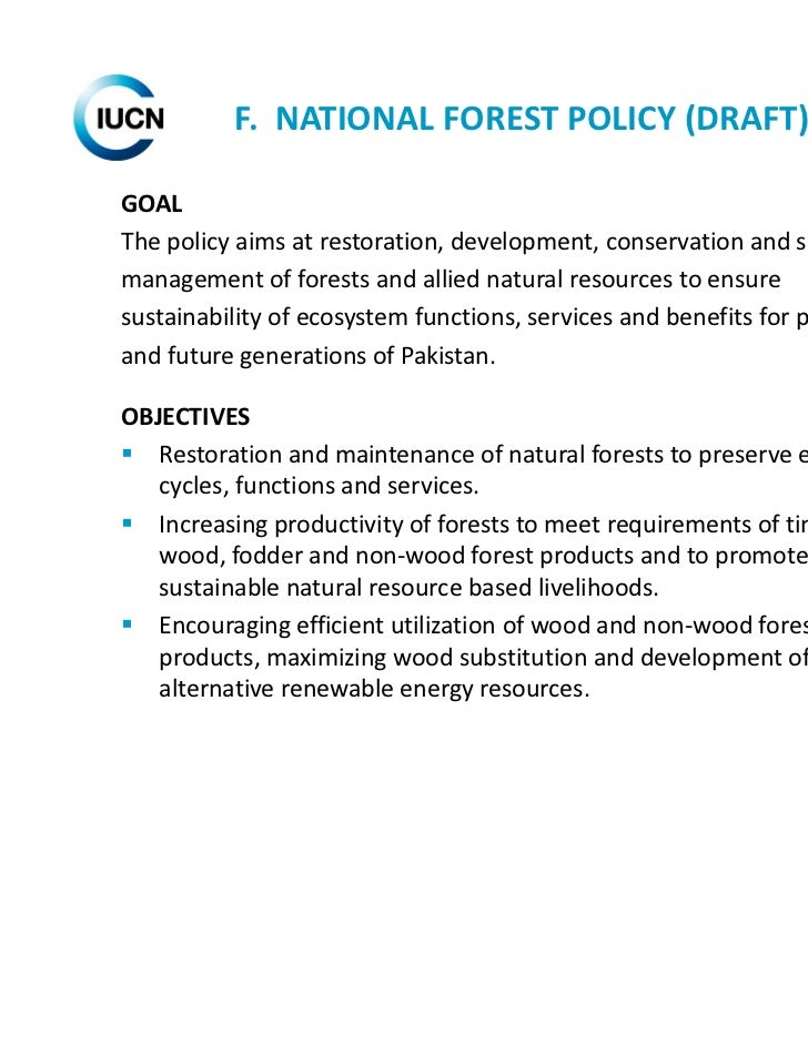 aims and objectives of natural resources