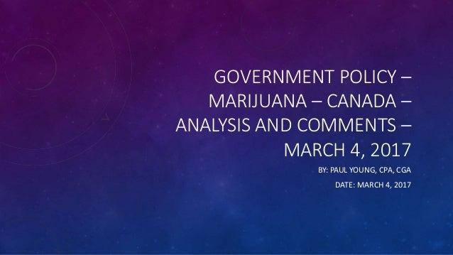 Decriminalization of cannabis thesis