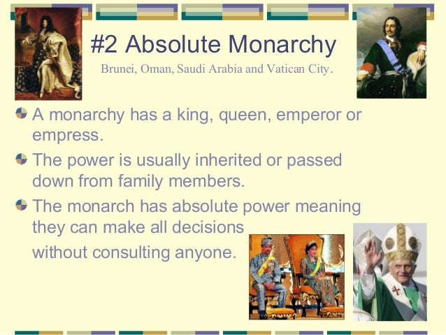 Problems in a Monarchy That May Not Happen With Other Types of Government