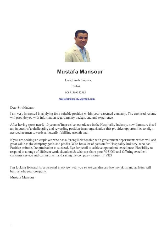Government Relations Officer Resume. Mustafa Mansour United Arab Emirates  Dubai 00971509057585 Mustafamansour2@gmail.com Dear Sir /Madam ...