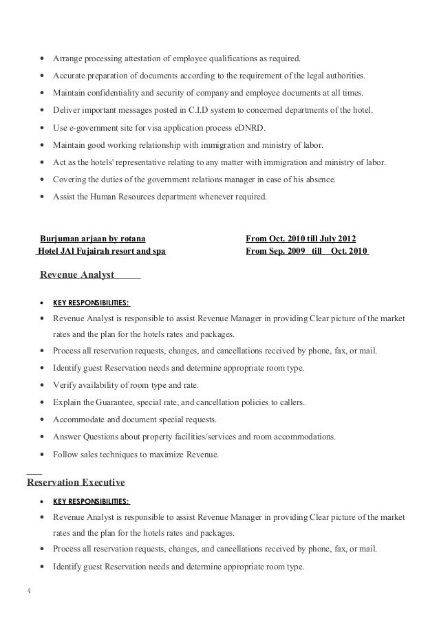 Government relations officer resume