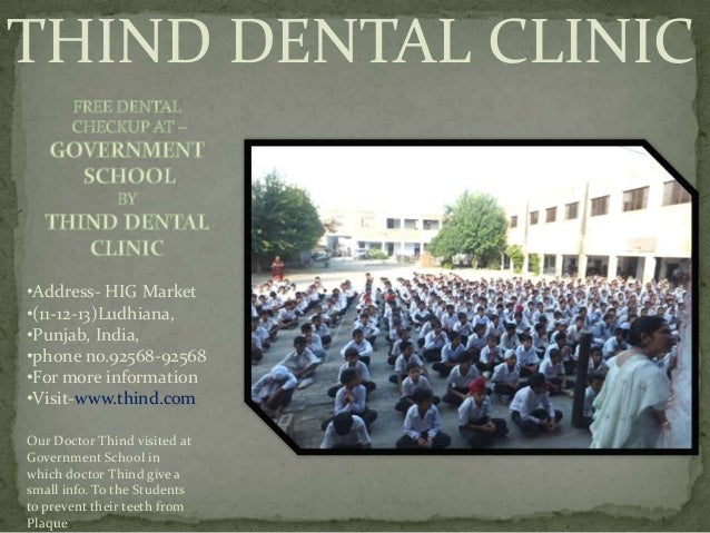 THIND DENTAL CLINIC•Address- HIG Market•(11-12-13)Ludhiana,•Punjab, India,•phone no.92568-92568•For more information•Visit...