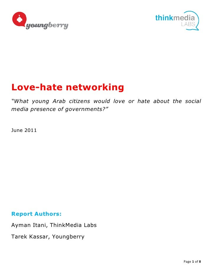 Love-hate networking...