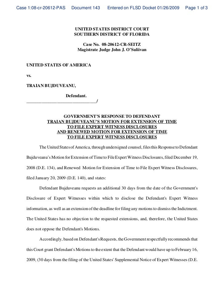 Governments response to defendant traian bujduveanus motion for ext case 108 cr 20612 pas document 143 entered on flsd docket thecheapjerseys Images