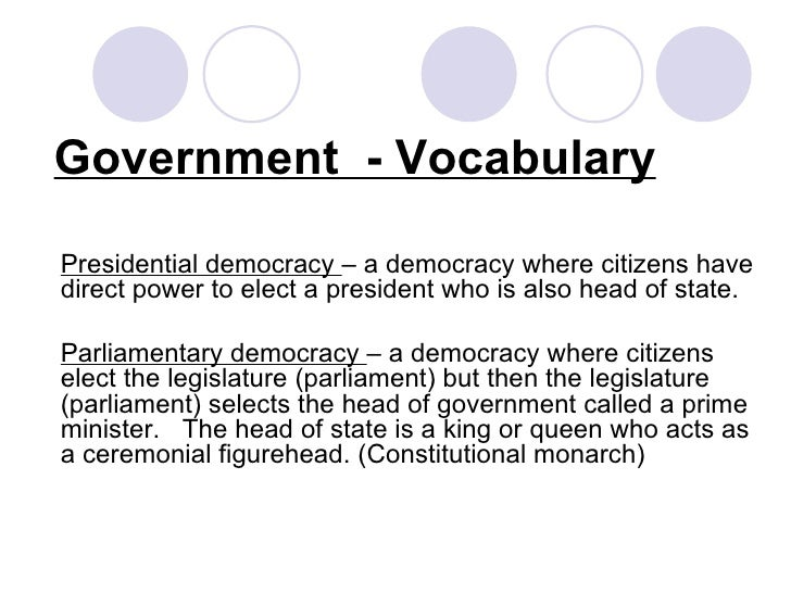 government vocabulary Political vocabulary  the government lost the election because it had lost the trust of the after more than a decade in power.