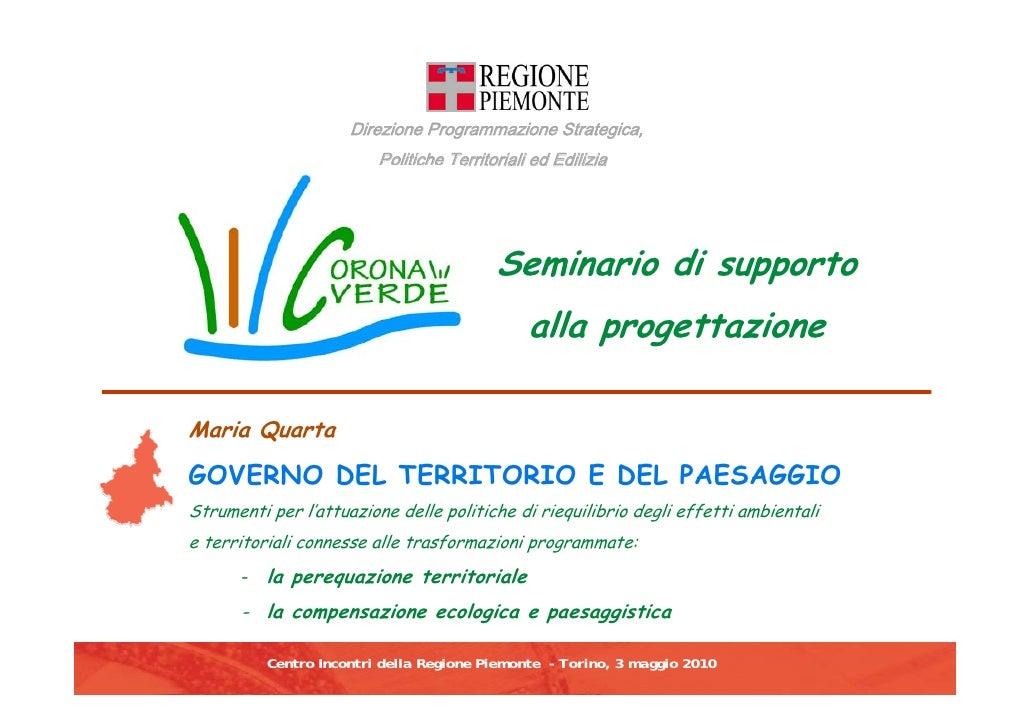 Direzione Programmazione Strategica,                                  Politiche Territoriali ed Edilizia                  ...