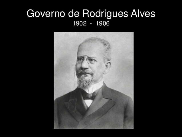 Governo de Rodrigues Alves 1902 - 1906
