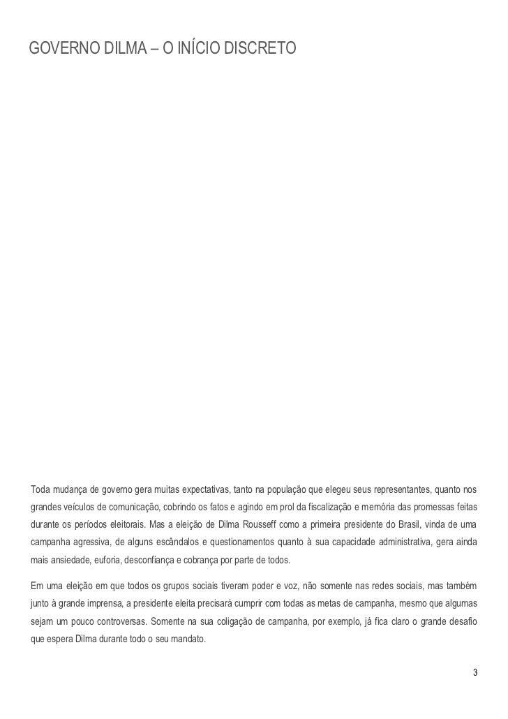 Estudo: Governo Dilma  - O início discreto Slide 3